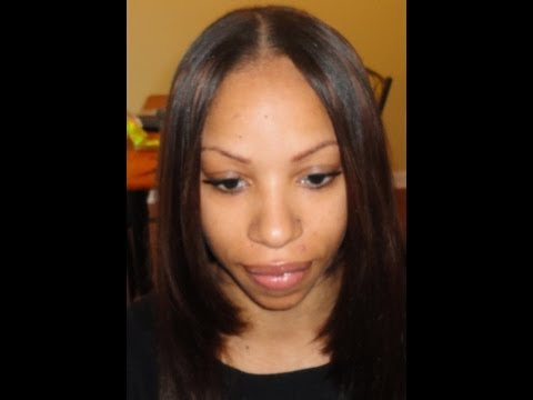 Middle Part Sew In W Vimage Indian Deep Wave Hair Doovi