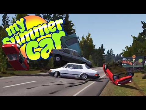 Huge Highway Crashes Destroying All Of The Cars My Summer Car