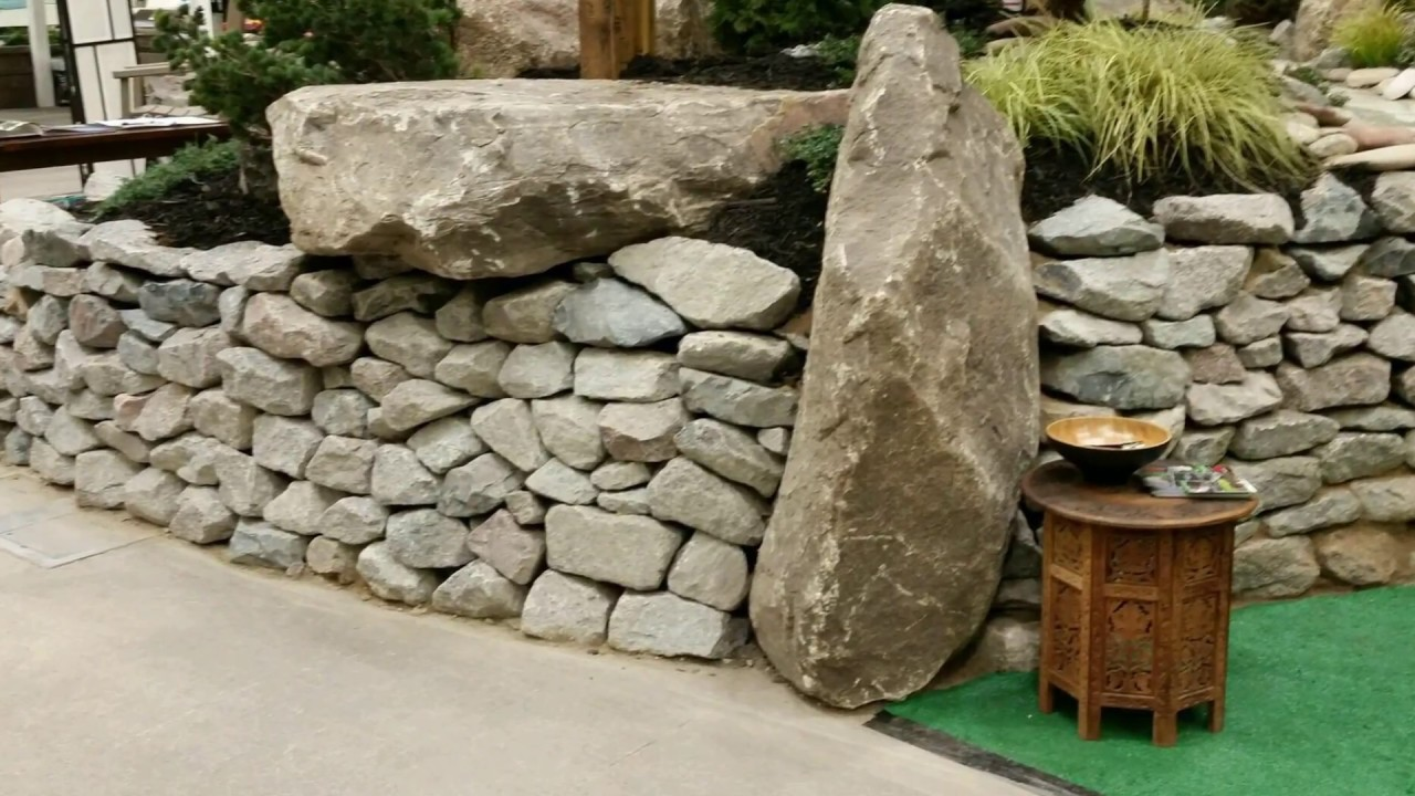 Dry Stone Walls At The 2017 Minneapolis Home And Garden Show Youtube