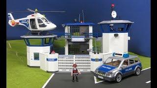 Playmobil en français commissariat de police avec prison - pompiers : Course poursuite en voiture