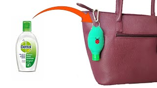 Diy hand sanitizer case | holder easy porta Álcool gel/ capinha para gel \ pocket alcool bolsinha de \smart emer...