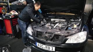 Mercedes Benz S320 W221 замена масла / Бортовой журнал