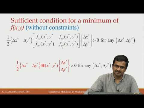 Lec11 Part I Sufficient conditions for constrained minimization