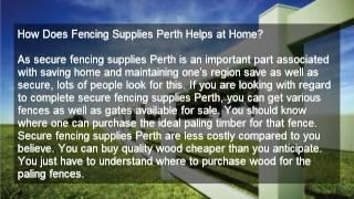 Fencing Supplies Perth