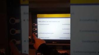 Einzahlung von Bargeld bei der PostBank