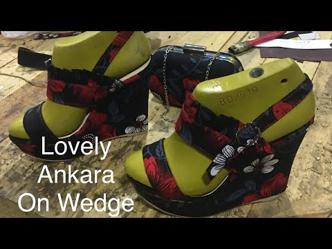 Making Wedge Sandal With Lovely  Africa Print