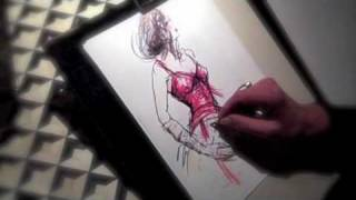 Rosemary Fanti live wedding and event illustrator