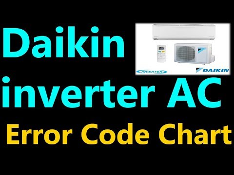Daikin multiple split error code E7 ductless