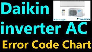 Daikin inveter split ac error code chart troubleshoot faults problem solve  video learn by asr