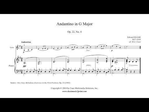 Elgar : Andantino in G Major, Op. 22, No. 4 - Violin