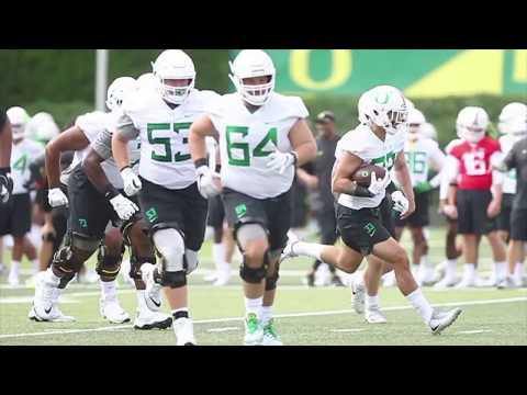 Sights and sounds from Oregon Ducks' first practice of fall camp