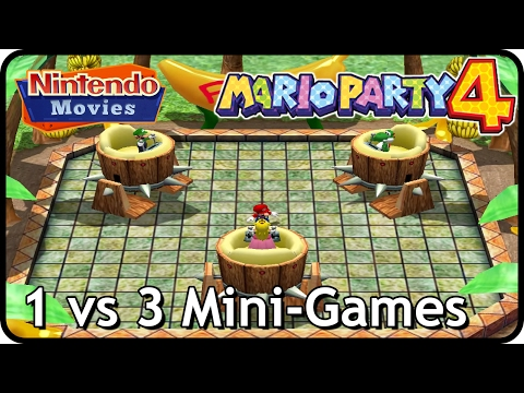 Mario Party 4 - 1 vs 3 Mini-Games