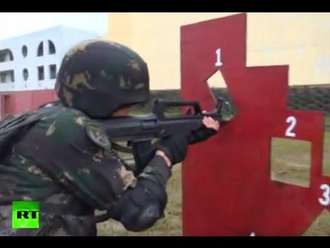 Heavy Rain Training: Chinese snipers show off firing skills
