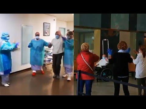 94-year-old Coronavirus Survivor Cheered As She Leaves Hospital In Spain