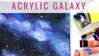 Acryl Galaxie auf Leinwand | MALEN MIT ACRYL