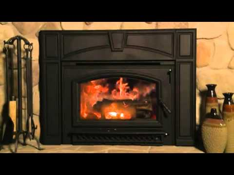 NEW Quadra Fire Voyageur Grand Wood Fireplace Insert - YouTube