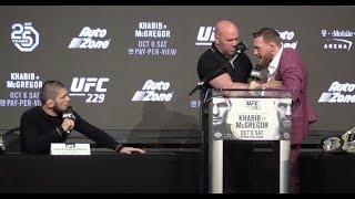 Conor McGregor & Khabib Nurmagomedov Heated Arguement Over Bus Incident  (UFC 229)