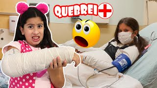 Maria Clara quebrou o braço e foi parar no hospital