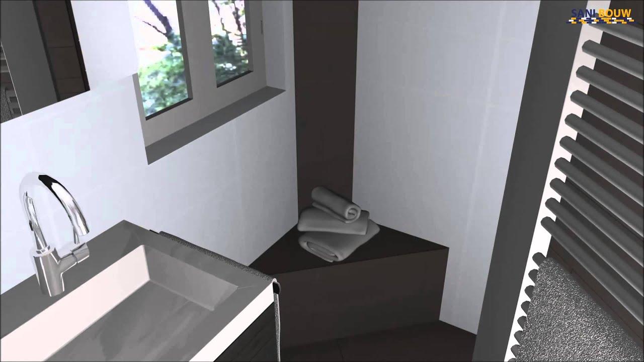Inloopdouche Kleine Badkamer : Kleine badkamer met inloopdouche youtube