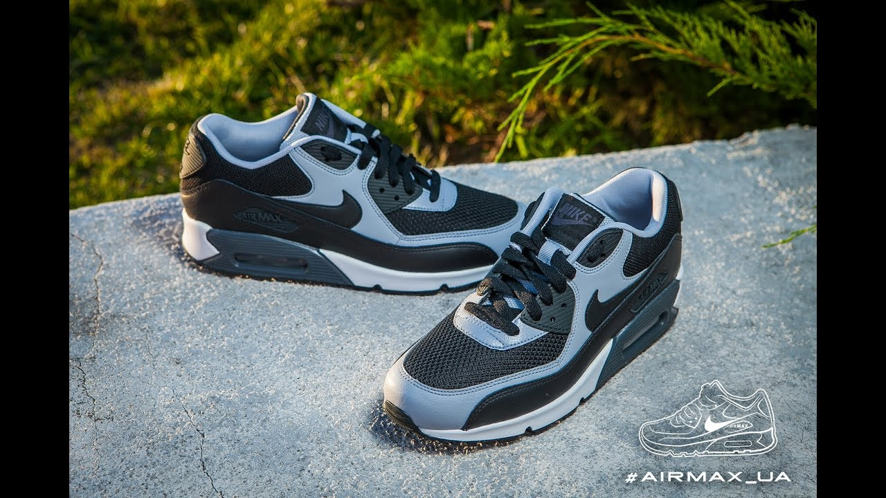 Nike Air Max 90 Essential White Black Wolf Grey Running