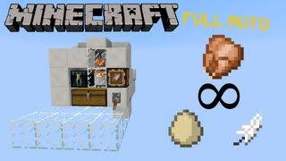 Poulailler 100% automatique compacte - poulet, oeuf, plume - Minecraft tutoriel nourriture