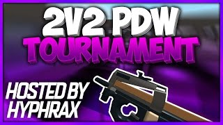 Competing in Hyraphax's 2v2 PDW Only Tournament | ROBLOX Phantom Forces [BETA]