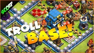 TH12 Anti 2 Trophy Base | Troll base 2019 Replays - Clash Of Clans