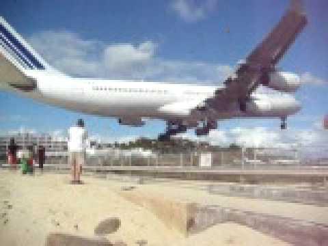Youtube Airport Beach St Maarten