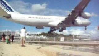 Air France A340 landing Princess Juliana Int.  st Maarten