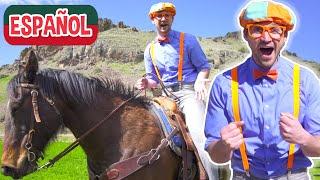Blippi Español Un día en el Rancho para Niños | Videos educativos para niños