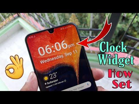 How Set Clock Widget All Samsung Devices