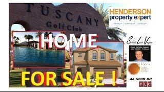 TUSCANY - $160,000 FOR SALE NEAR LAKE LAS VEGAS - GOLF - POOL - REC CENTER