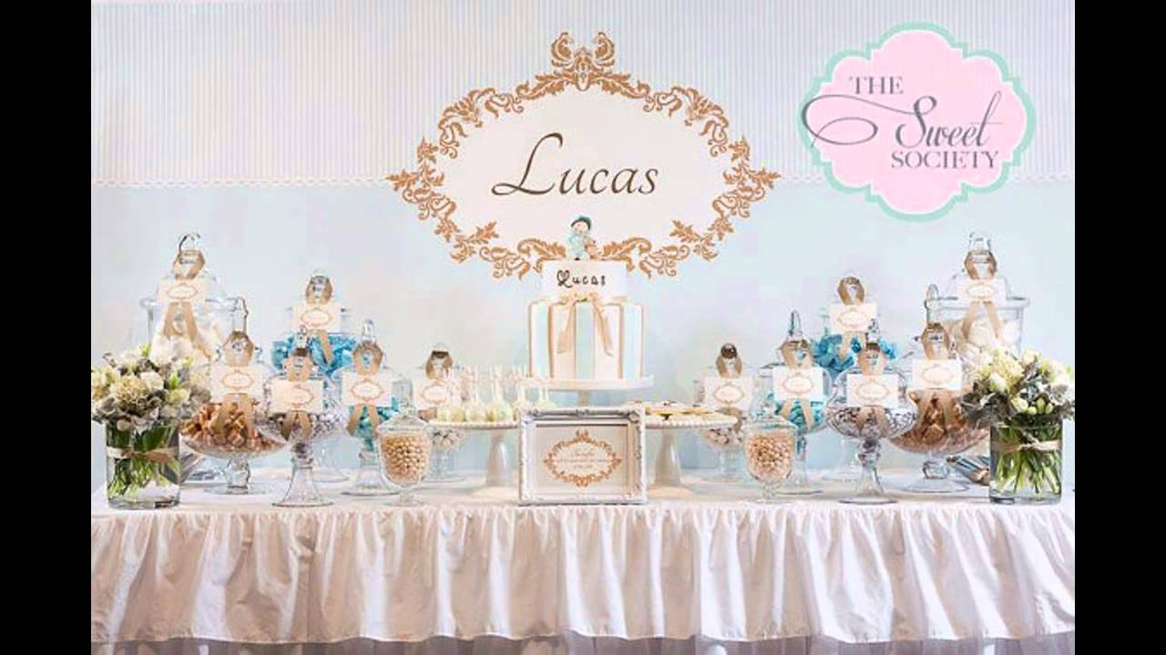 baptism party themes decorations