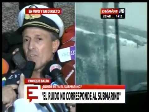 Submarino desaparecido: Último parte de la Armada