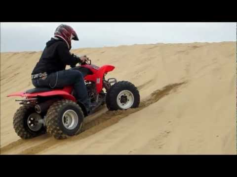Honda TRX 250EX My First Time Riding ATV Oceano Dunes Canon PowerShot ELPH 110 HS Video Test