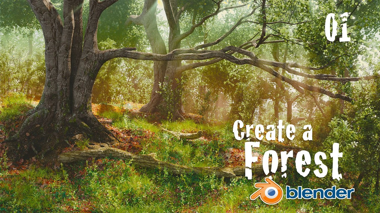 How to Create a Forest in Blender : Custom Trees - 1 of 6
