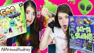 Testing GOO SCIENCE SLIME  vs SCI-FI SLIME!  Which is better? / AllAroundAudrey
