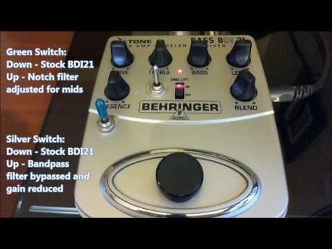 FrankenP Behringer Bass BDI 21 Pedal Mods, Demo, And How-to