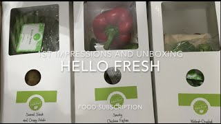 Hello Fresh Food Subscription 1st impressions & Cooking