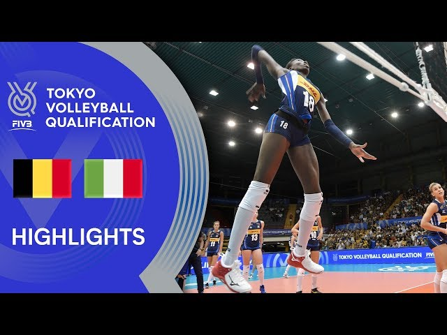 BELGIUM vs. ITALY - Highlights Women | Volleyball Olympic Qualification 2019