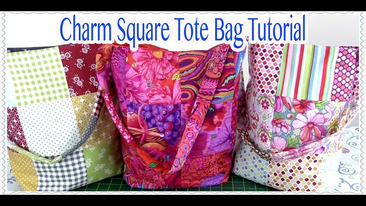Tote Bag Tutorial Easy Charm Square Tote Bag Tutorial