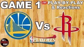 Warriors vs Rockets Game 1 | Play-By-Play & Live Reactions