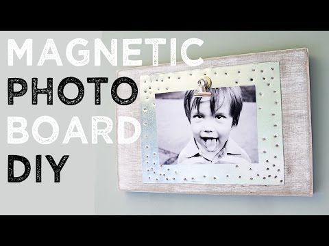 DIY Wood Magnet Photo Board