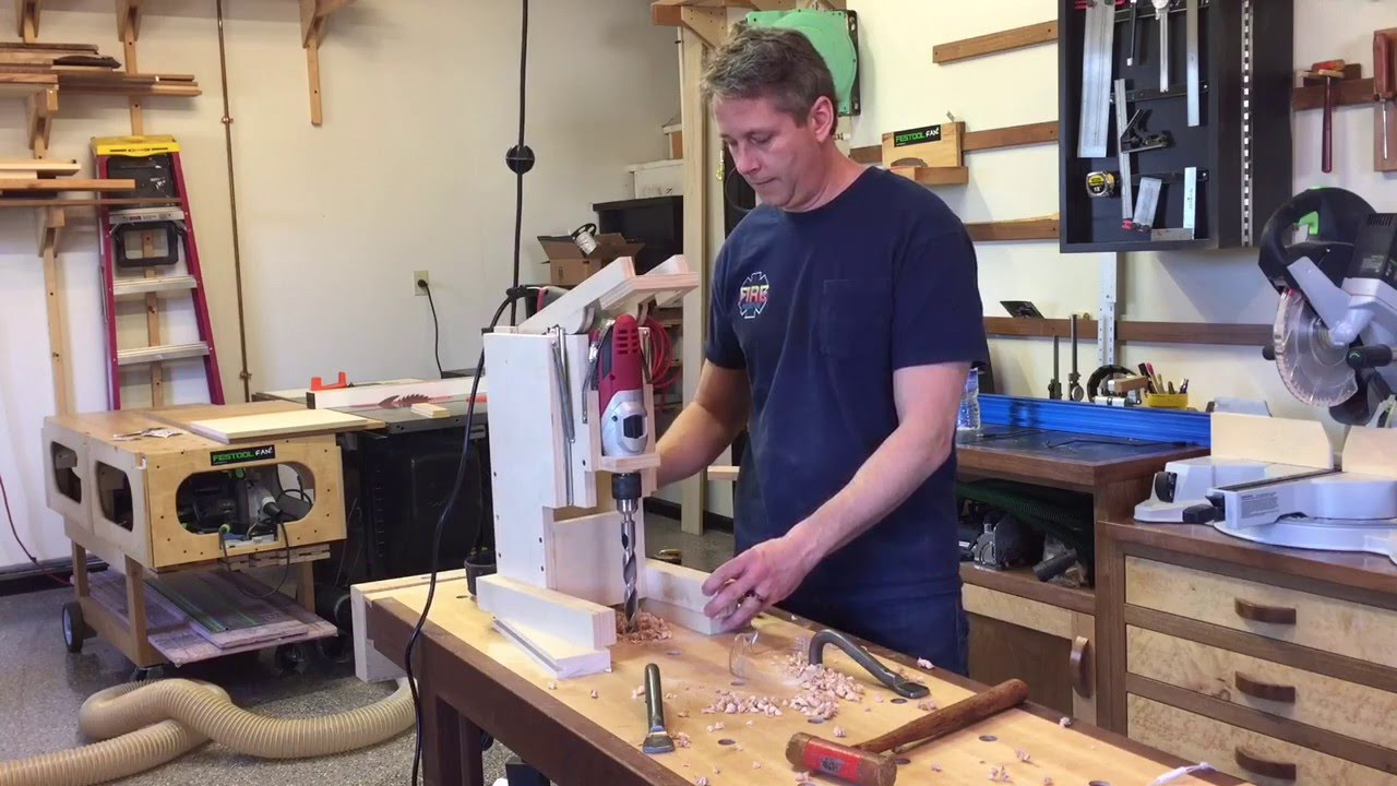 Diy Bench Top Drill Press Youtube
