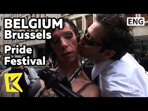 【K】Belgium Travel-Brussels[벨기에 여행-브뤼셀]동성애 축제 퍼레이드/Pride Festival/Parade/Gay/Rainbow/Flag