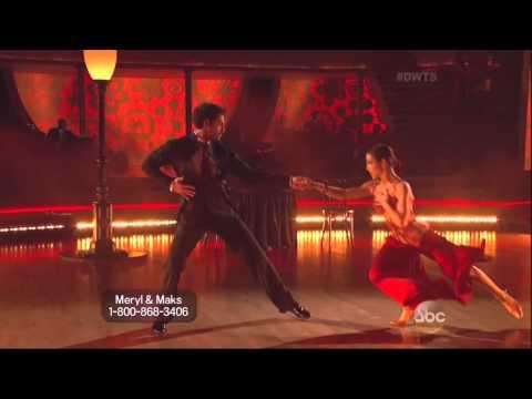 Maksim Chmerkovskiy & Meryl Davis dancing Argentine Tango on DWTS 5 19 14