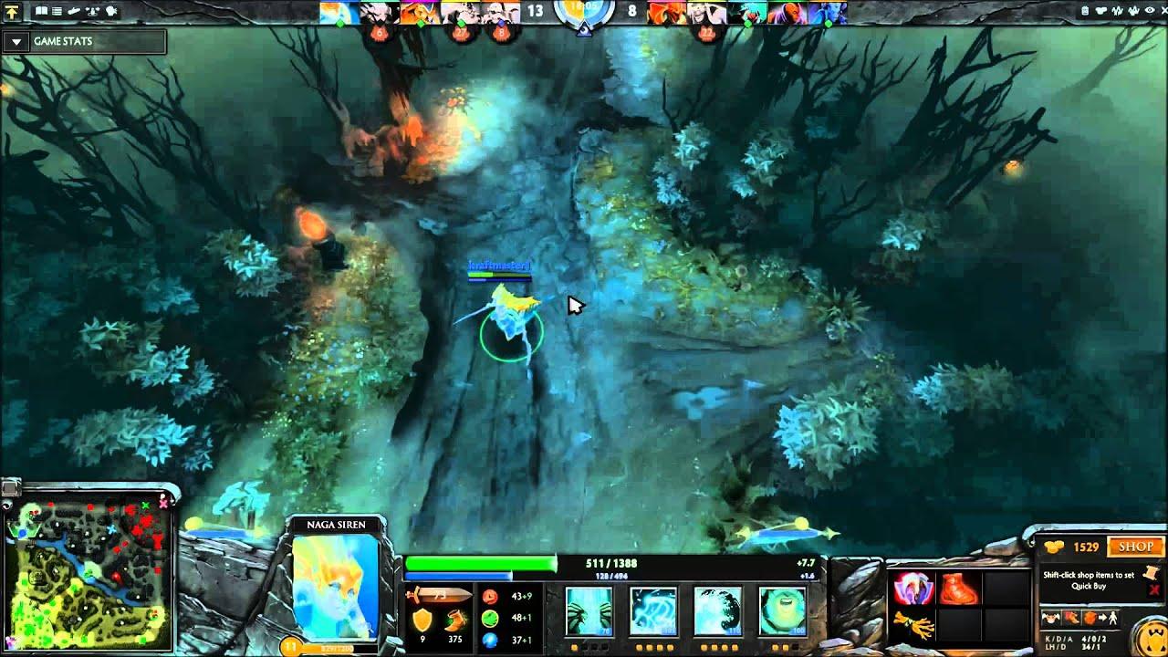 Dota 2 All Pick Naga Siren Kraftmaster1 Youtube