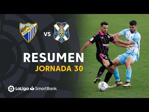 Resumen de Málaga CF vs CD Tenerife (1-1)