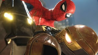 Spider-Man PS4: Shocker Chase Scene, Boss Fight  - Shocker Robs a Bank! Spectacular Difficulty