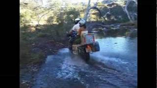 Canyoneering with BMW GS Adventure motos in northwest Australia